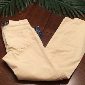 Ralph Lauren Chaps Corduroy Jeans Ivory Sz. 2 NEW